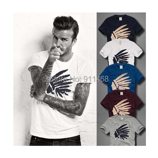 NEW hollistic men aeropostale indian Embroidery california brand men's casual t-shirt t shirts men slim fit moleton masculino(China (Mainland))