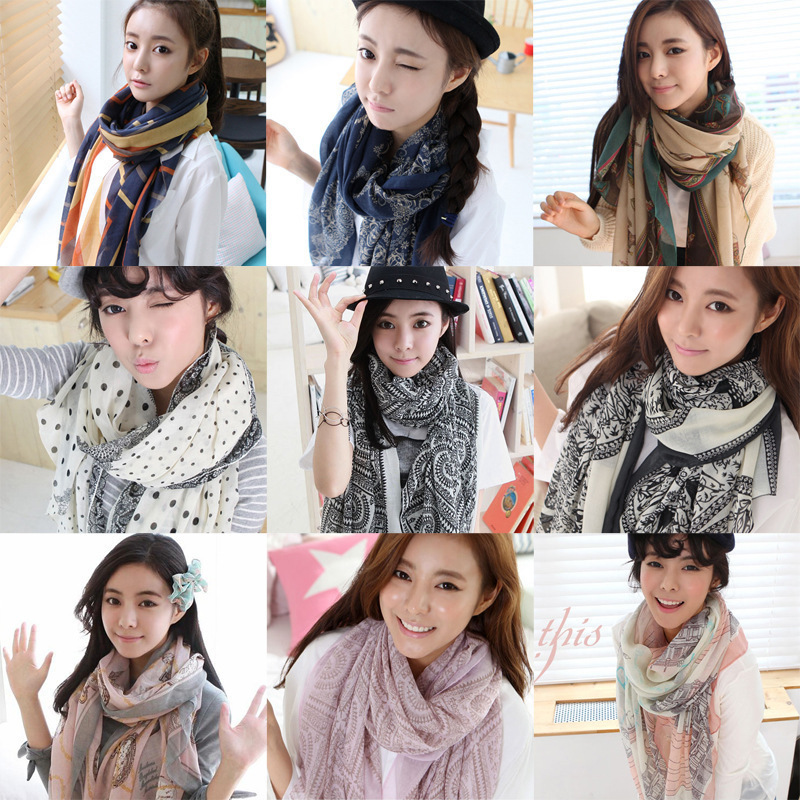 2015 new autumn and winter in Bali long scarf shawl multicolor yarn silk printing factory wholesale(China (Mainland))