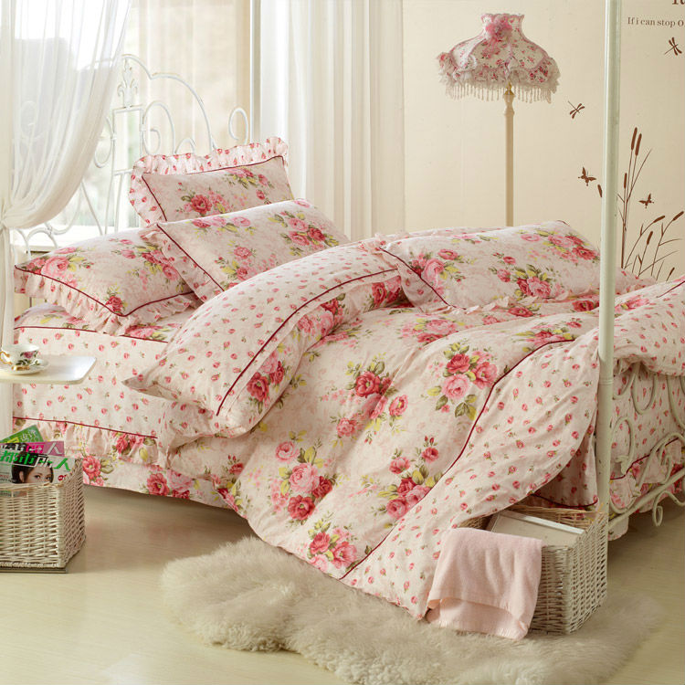 Elegant And Comfortable Bed Cover 4pcs Bedding Sheet With
