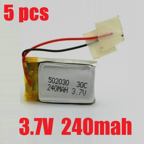 Гаджет  5pcs/lot Syma S107 S107G S105G S108 S108G S107N S026 S026G RC Helicopter Spare Parts 3.7v 240mah lipo battery Free Shipping None Игрушки и Хобби