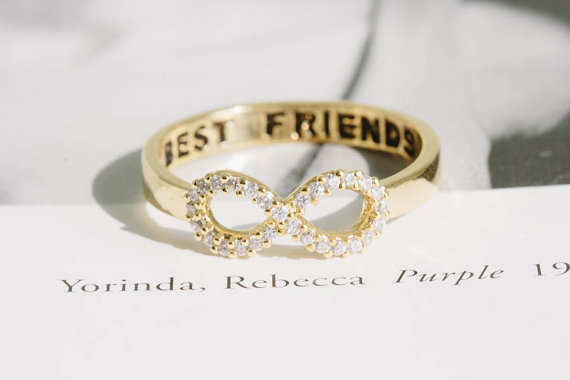 Wholesale 30pcs/lot 2014 18K Gold Plated Crystal Ring Metalwork Infinity Best Friends Ring for Women Fashion Jewelry<br><br>Aliexpress