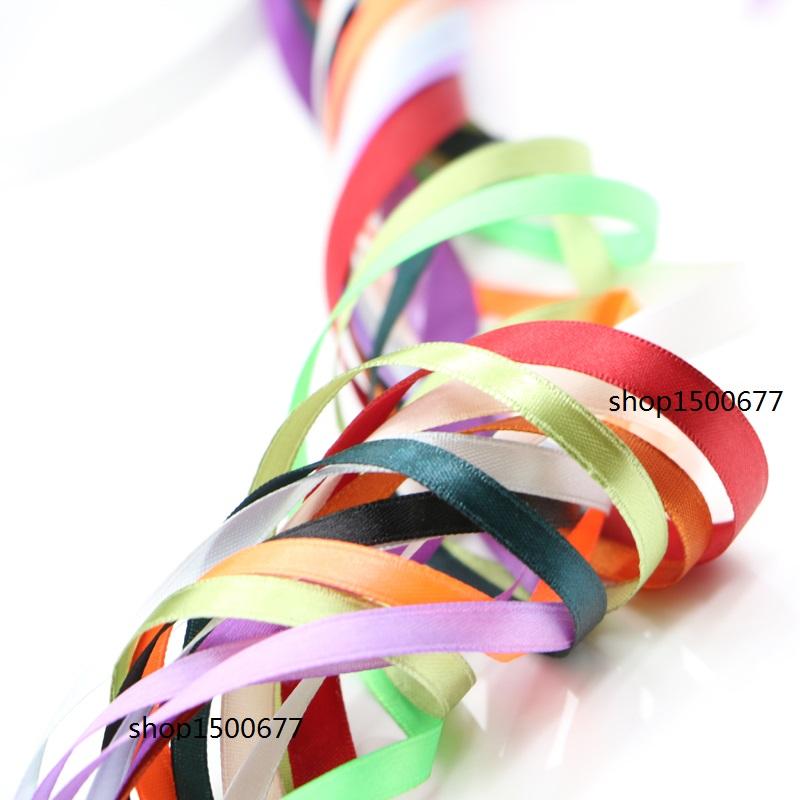 (50 yards/roll) 6mm-10mm Single Face Satin Ribbon Webbing Decaration Gift Christmas Ribbons garment ribbon(China (Mainland))