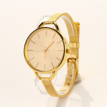 Delicate Hot!  relogio feminino Girls Women Ladies Analog Stainless Quartz Bracelet Wristwatch Watch Gold Ma29