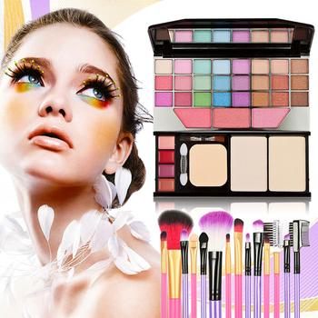 Cosmetic Palette + Makeup Brushes Makeup Set Eye Shadows Lip Gross Mica Powder Make up Sets Maquillage Set