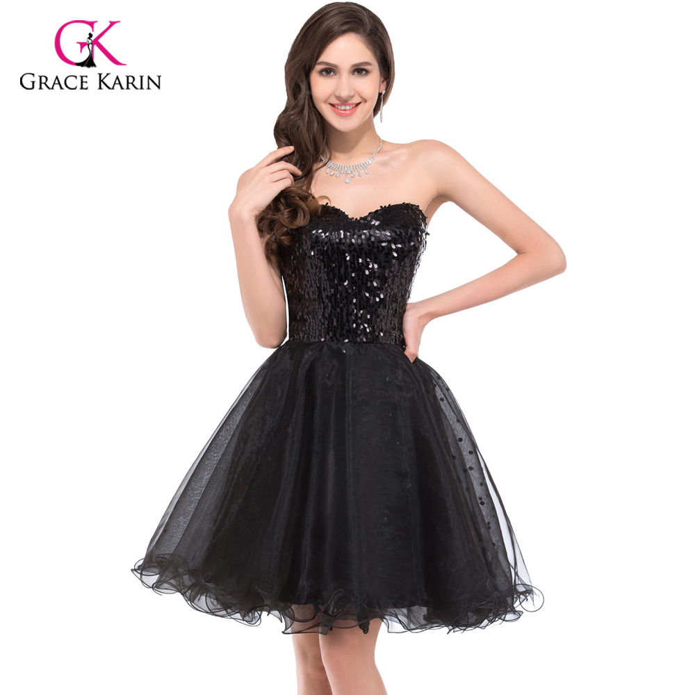 grace karin gold black sequins robe de cocktail party dresses 2016 homecoming ball gown mini. Black Bedroom Furniture Sets. Home Design Ideas