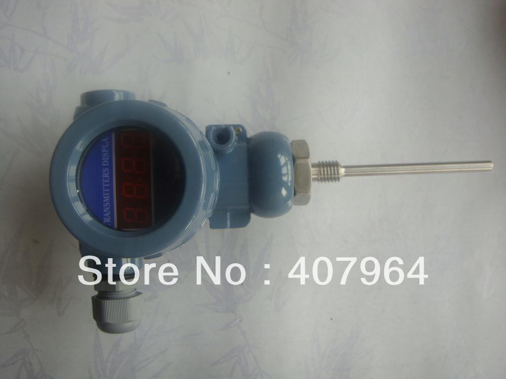 Фотография Digital display 0-100C Industrial Pt100 Temperature Transmitter with  4-20mA Output
