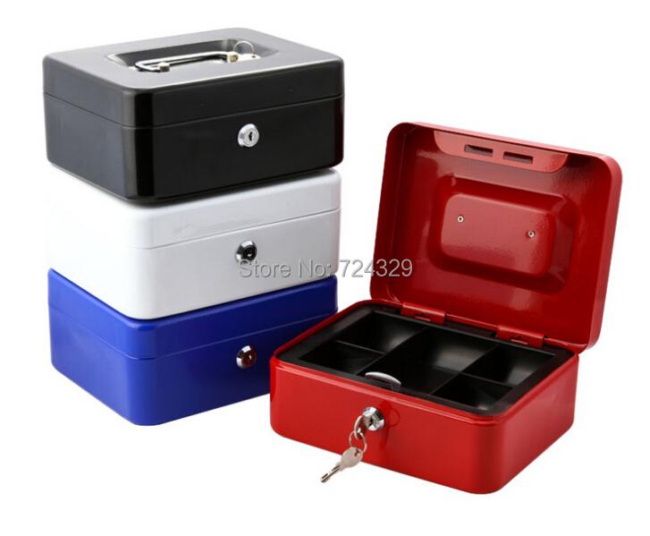 1pc metal cash box storage box safety secret money case for Money storage box