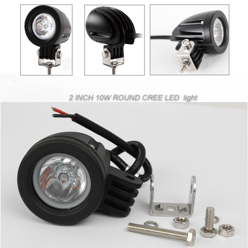 2pcs/lot 2 INCH 10W CREE LED WORK LIGHT FLOOD /SPOT 800LM FOR OFF FOR OFF ROAD 4x4 , MOTORCYCLE BOAT ATV 12V 24V IP67<br><br>Aliexpress