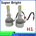 Hot New 2X55W 9200LM COB Chips Car Led Headlight Conversion Kit Auto Front Light H1 Replace