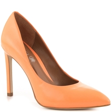 Orange Pointed Toe Thin Heel Slip-on Basic Soft Leather Pumps Shoes Women 2015 Summer Style Shoes Women D'orsay Made-to-order