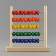 5-Row Classic Bead Wooden Abacus Child Educationnal Calculate Count Numbers Free Shipping(China (Mainland))