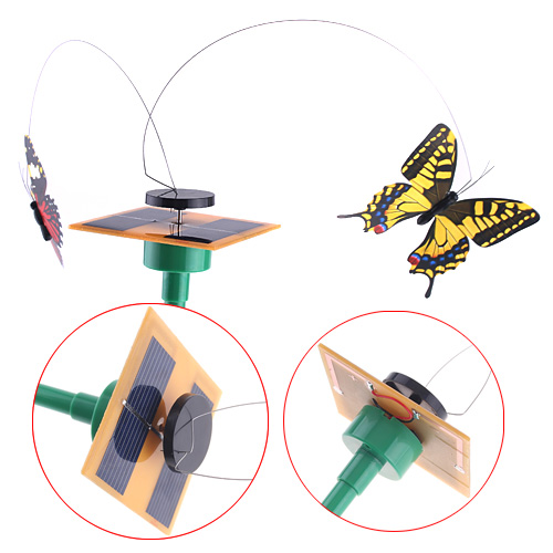 Beautiful Solar Power Flying Butterfly Garden Ornaments Yard Home Decoration(China (Mainland))