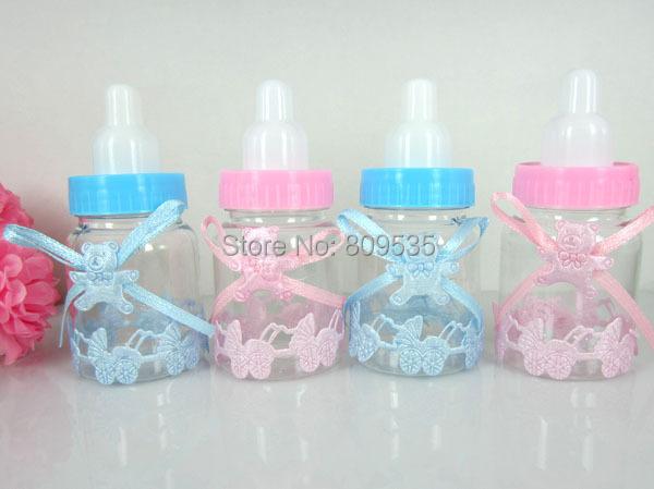 60pcs baby shower favors little bottle baptism for wedding candy