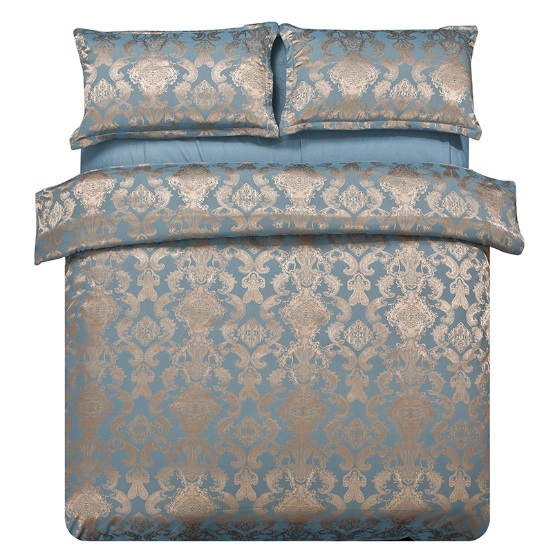 Recommend Luxury Jacquard Bedding Set Elegant And Noble Bronze Bedding Reactive Printing Bedclothes 4Pcs Queen King Factory(China (Mainland))