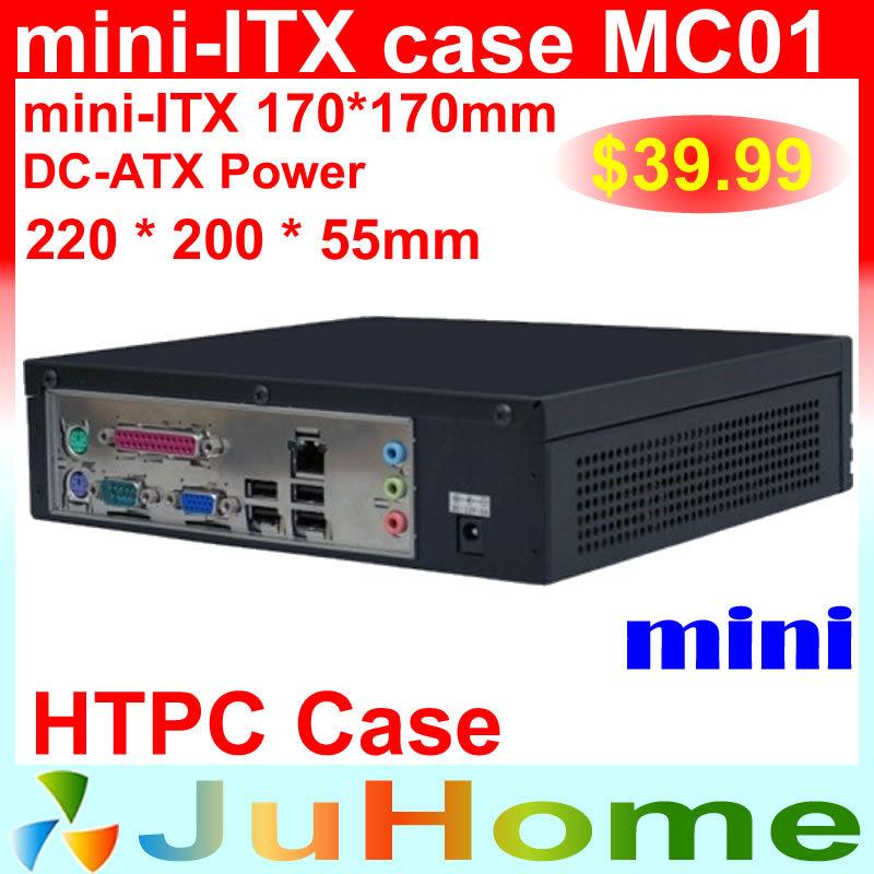 HTPC Mini-ITX case, 220*220*55mm, Ultra-thin, mini case of home theatre computer, on Car PC case, mini ITX case MC01(China (Mainland))
