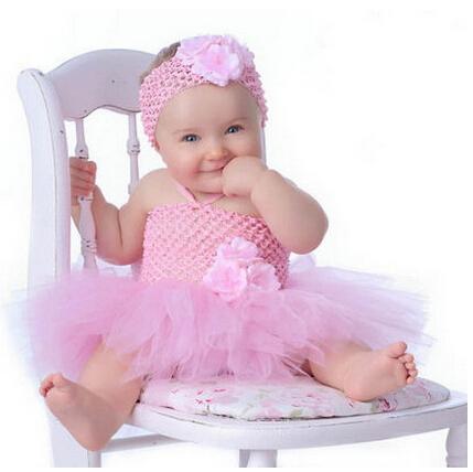 Cute Babies Pink Dress Cute Baby Tutu Dress With