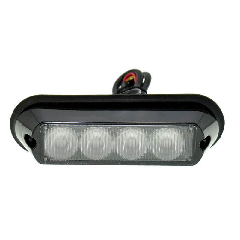 amber 12v 4 led car flashing warning light lamp emergency. Black Bedroom Furniture Sets. Home Design Ideas