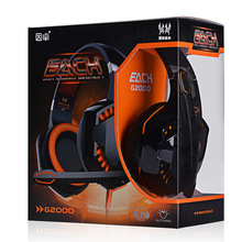 Hotting EACH G2000 Deep Bass Headphone Stereo Surrounded Over-Ear Gaming Headset Headband Earphone with Light for PC LOL Game