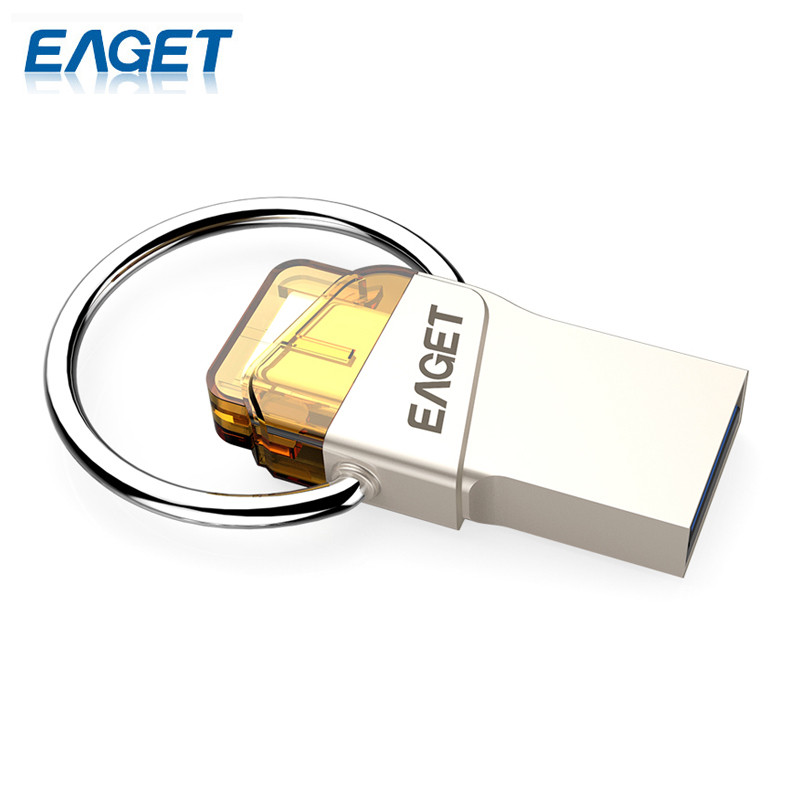EAGET New Arrival CU66 Type-C USB Flash Drive 64GB Pendrive Mini Portable Storage For Smart Phone For Computer For Macbook(China (Mainland))