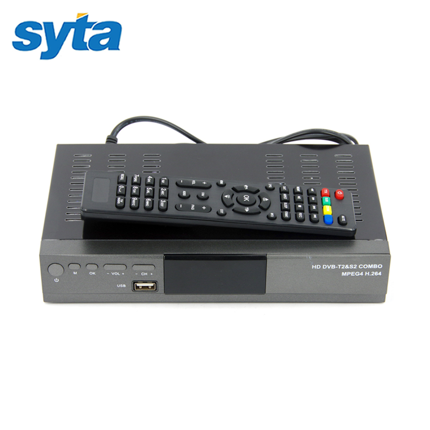 For Russia Europe Digital Satellite Receiver Combo DVB T2 + S2 HD 1080P DVB-T2 TV Box H.264 / MPEG-2/4 Satellite Receiver(China (Mainland))