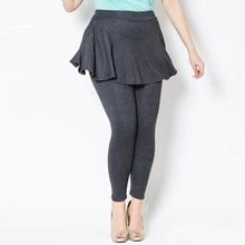 Plus Size Cashmere Imitation Leggings Women Spring Pants Large Pleated Skirt 2016 New Jeans Leggings Wear to work Leggings 5XL(China (Mainland))