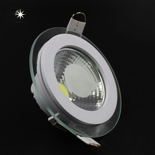 Buy LED Downlight COB Dimmable 7W 10W 12W 15W 20W 30W LED COB Panel Light AC85-265V Recessed COB Downlight Glass Cover LED Spot bulb for $62.94 in AliExpress store