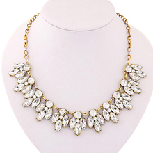 Splendid Womens Bib Statement Luxury Rhinestone Necklace for a Classic but Elegant Design 52MW(China (Mainland))