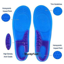Hot&New Unique Design 1 Pair Men High Quality Gel Orthotic Arch Support Massaging Sport Shoe Insole Run Pad(China (Mainland))