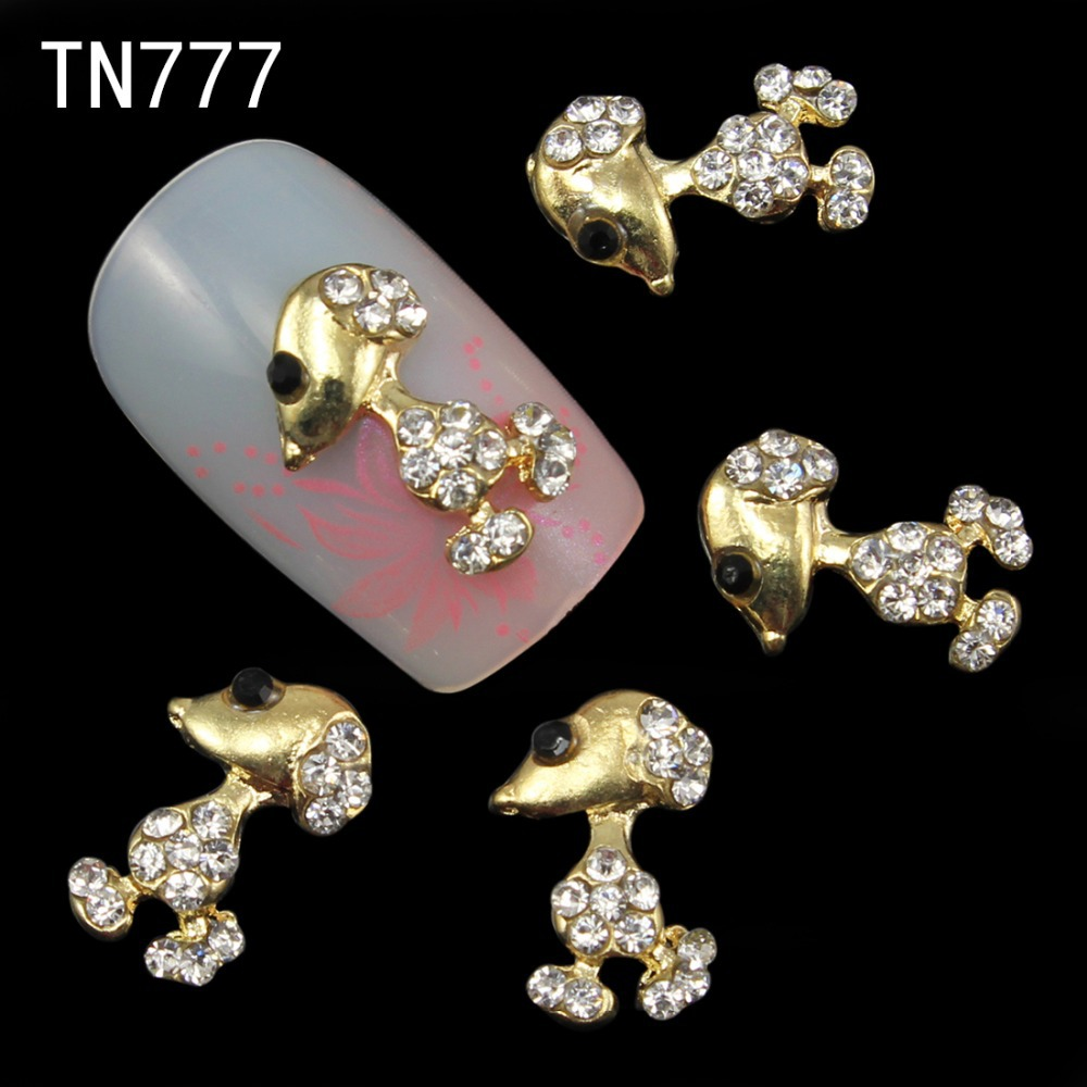 Buy 10pcs Rhinestones 3D Metal Nail Art Alloy Glitter Jewelry Nail Art ...