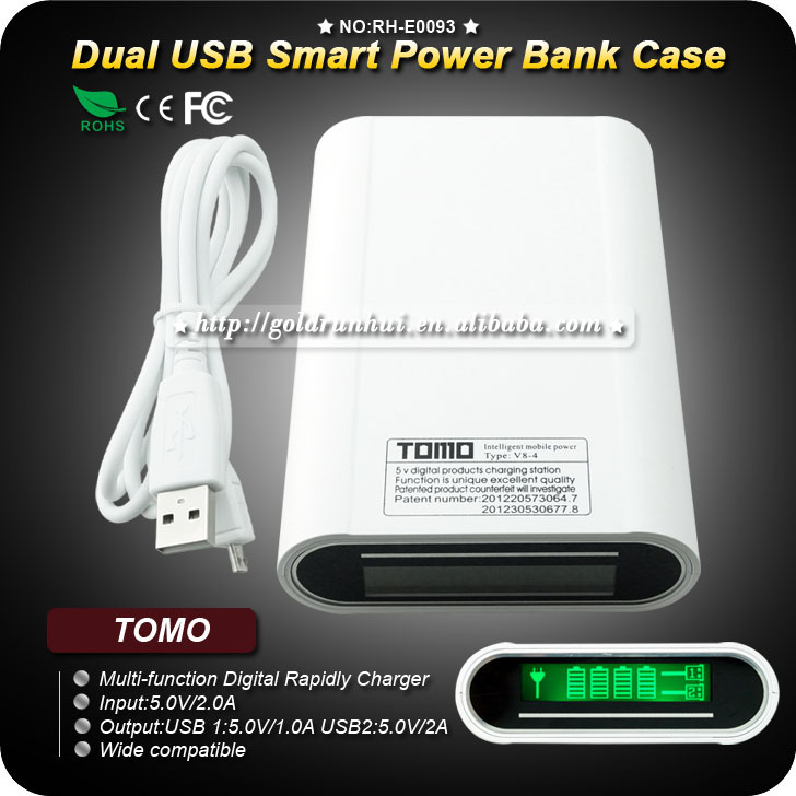 1PC TOMO 18650 Battery Charger Lithium Battery with Anti-overcharge Smart Fast Charger Indicate Power Function(China (Mainland))