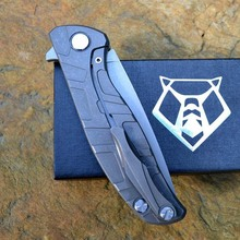Russian shirogorov 95 hunting knife blade folding knife stone blue titanium bearing washer handle hunting survival