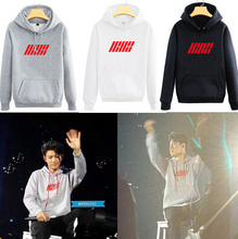 K-pop iKON Clothes Bobby B.I Hooded Hoody Autumn Women Fleece iKON Jacket Coat Outerwears iKON Kpop Hoodie Sweatshirt