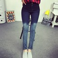 Plus XL 2017 Femme Jegging American Women Skinny Leggings High Waist Slim Jeans Stretch Black Denim