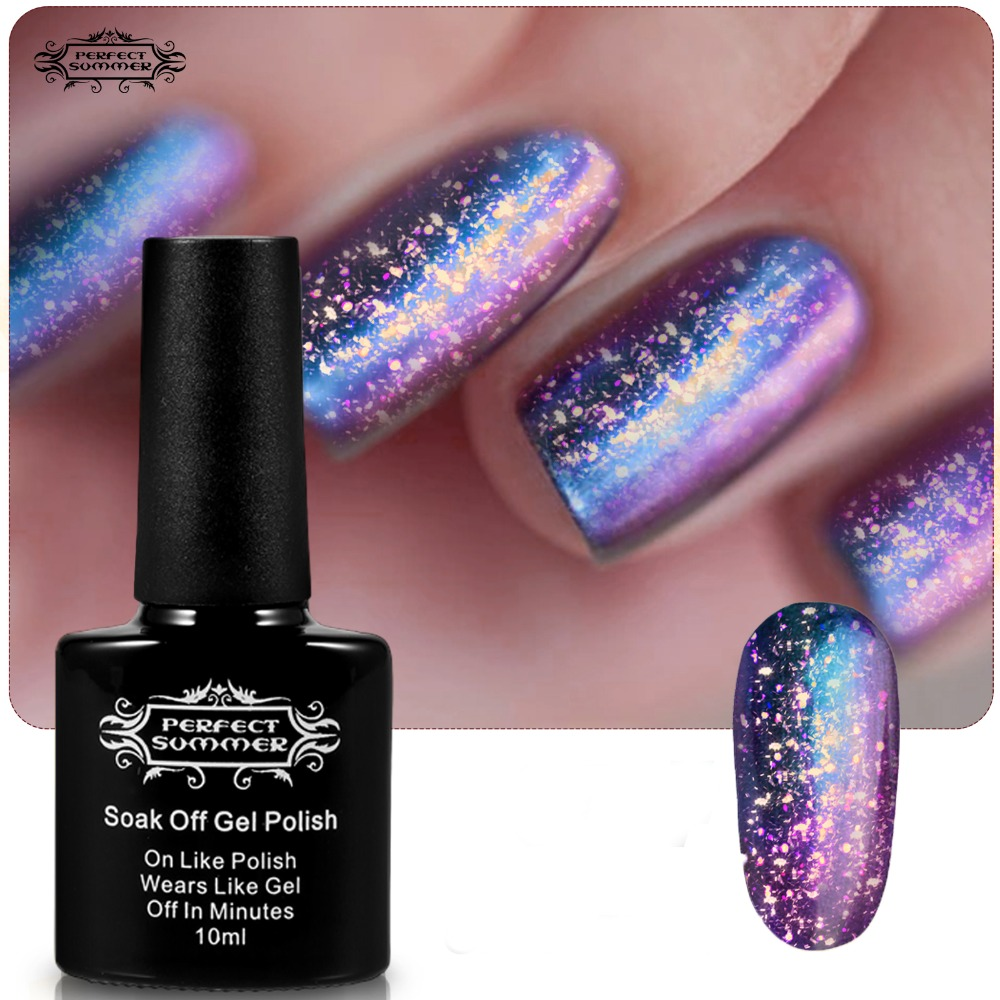 Perfect Summer Chameleon Gel Nail Polish LED UV Soak off Long Lasting 10ml Galaxy Style High Quality Limited Sale<br><br>Aliexpress