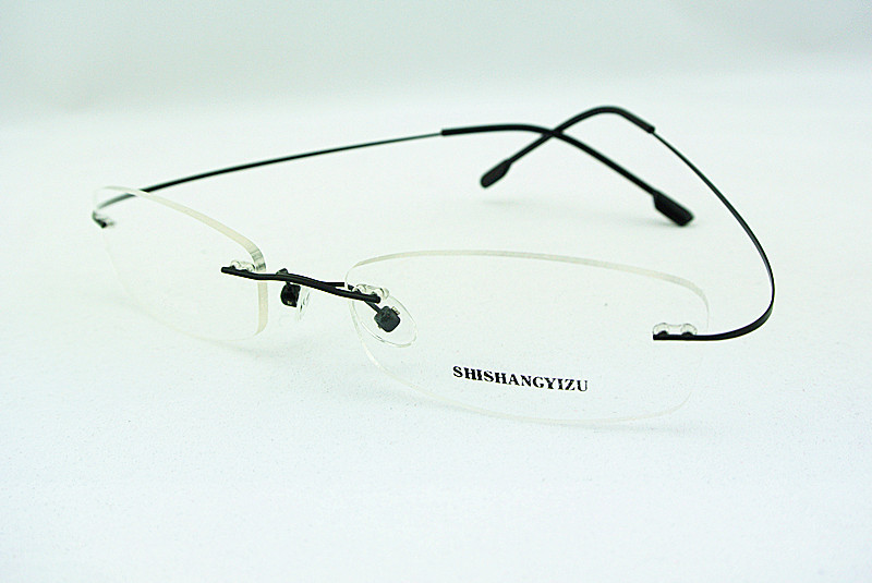 Best Lightweight Eyeglass Frames : EYEGLASS FRAMES FLEXIBLE RIMLESS BLACK GLASSES MEN & WOMEN ...