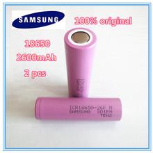 Recarregável de Baterias Mah para Samsung 2 Pçs e lote Original 18650 3.7 2600 Icr18650-26fm Seguras Uso Industrial