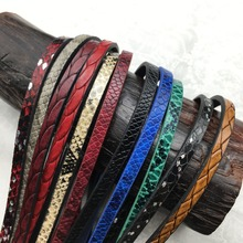 Buy GUFEATHER 5mm Snake Print leather cord/jewelry accessories/jewelry findings/leather cords for $1.00 in AliExpress store
