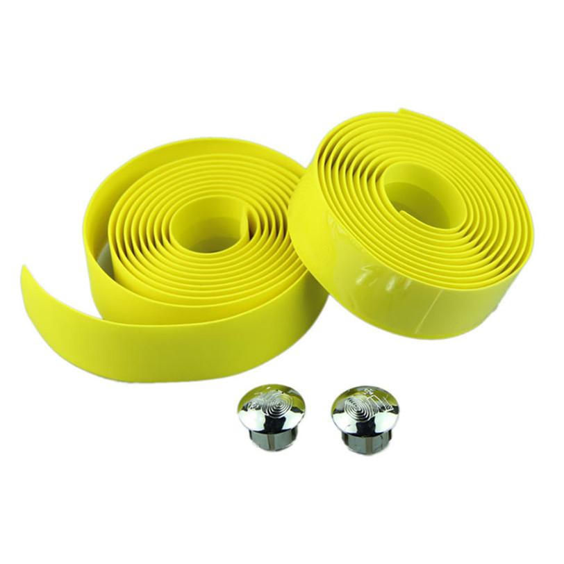 Best seller Cycling Handle Belt Bike Bicycle Cork Handlebar Tape Wrap 2 Bar Plug May 05