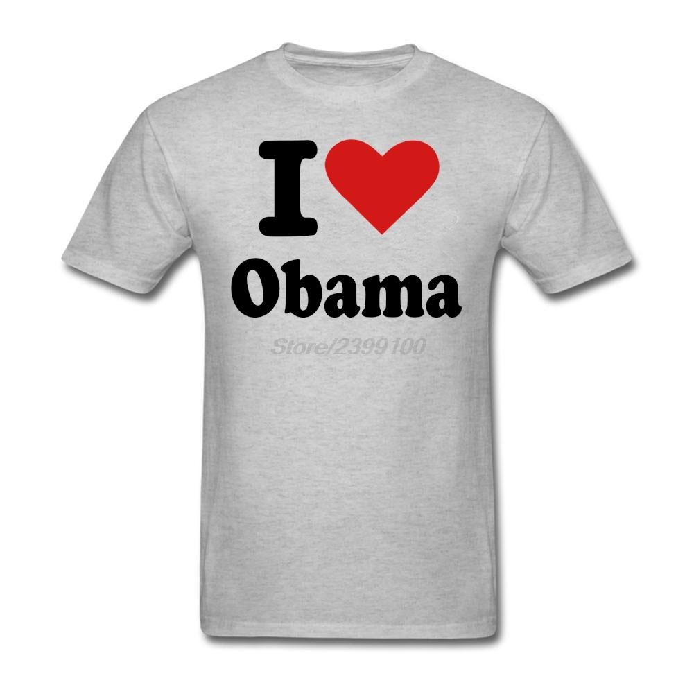 White Short Sleeve Custom I Love Barack Obama T Shirt Men Boy Design XXXL Couple Tshirt(China (Mainland))