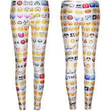 west knitting Free Shipping F176 2015 Women's Emoji Jogger Leggings Exercise Pants Casual Hip Hop Funny Plus Size Sweatpants