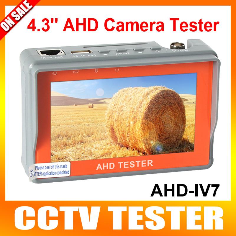 "Security AHD&CVBS Analog Camera CCTV Tester 4.3"" LCD Monitor Video Audio Wrist Strap 1080P 720P UTP Cable Test 5V/12V Output(China (Mainland))"