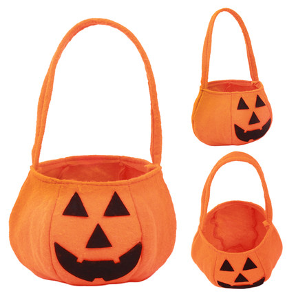2015 New Arrival Cute Halloween Pumpkin Children Cloth Bags For Candies Hot Sale Free Shipping(China (Mainland))