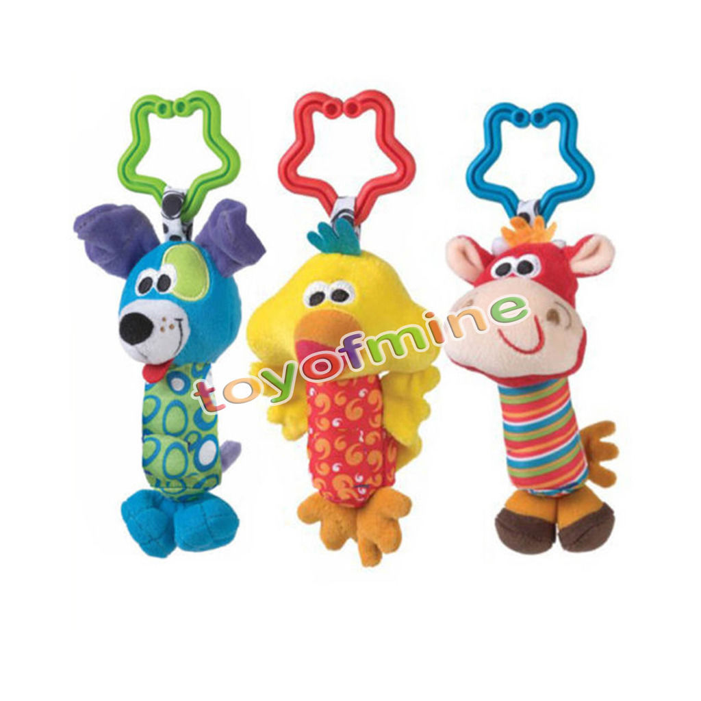 Kids Baby Soft Animal Handbells Rattles Bed Stroller Bells Developmental Toy new(China (Mainland))