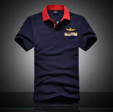 Hot High quality Brand aeronautica militare men t shirts 2016 Air force one 1 Sport Short sleeve lapel t-shirt clothing men