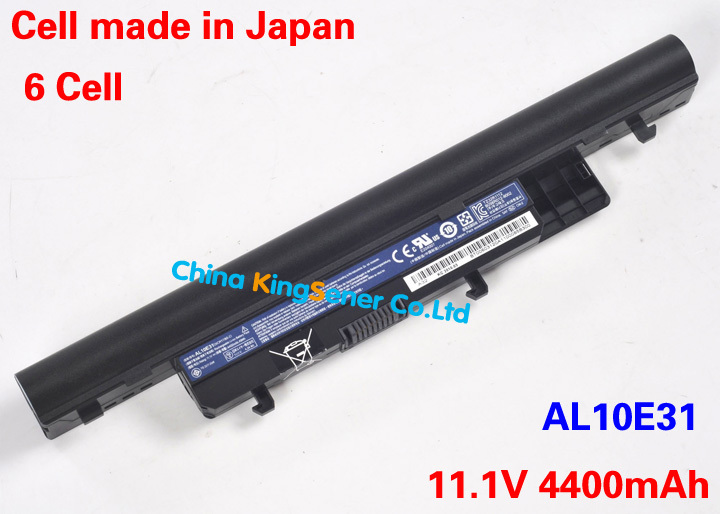 Japanese Cell Original Laptop Battery for Gateway EC39C EC39C01c EC39C01u EC39C01w EC49C AL10E31 AL10F31 3ICR17/65-2 3ICR17/65-3(China (Mainland))