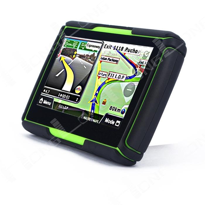 Зеленый 4,3 '' водонепроницаемый Bluetooth мотоцикл GPS 4 гб флэш-памяти + профессиональный карты самые Countries128M DDR
