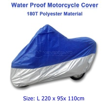 Size L 220 x 95x 110cm Motorcycle Covering Waterproof Scooter Cover UV resistant Heavy Racing Bike Indoor Outdoor Cover D10