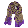 Women Silk Scarf 69 175cm Shawl Fashion Style Purople Print Patten 100 Silk High Quality Hot