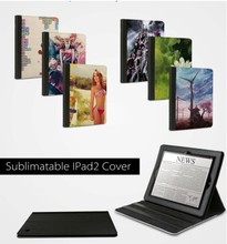 New DIY printed sublimation Leather covers for i Pad 2 & 3 DHL free shipping 50pcs/lot(China (Mainland))