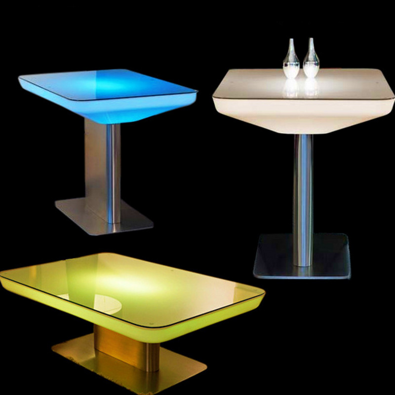 American retro bar led light emitting plastic table coffee table desk table and do the old metal Led coffee table